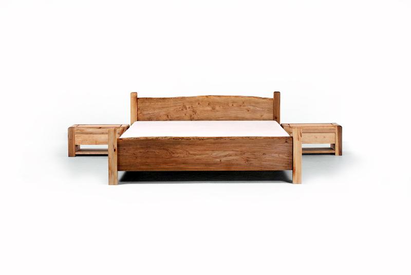 massivholz bett country 160x200 designerbett in erle massiv natur doppelbett. Black Bedroom Furniture Sets. Home Design Ideas