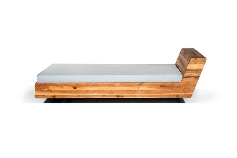 MAZZIVO Massivholzbett Design LUGO 120 x 200 cm Bett in Erle massiv ...